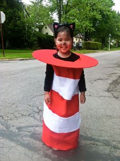 So cute. Cat in the hat costume