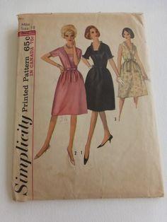 Vintage Simplicity Pattern 5708 Misses Cocktail Dress Size 18 by VintagePatternDrawer on Etsy