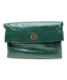 Look what I found on #zulily! Tory Burch Malachite Dena Leather Convertible Clutch by Tory Burch #zulilyfinds