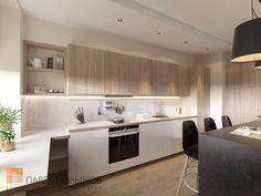 Фото: Кухня-гостиная - Интерьер квартиры в современном стиле, ЖК «Солнечный»