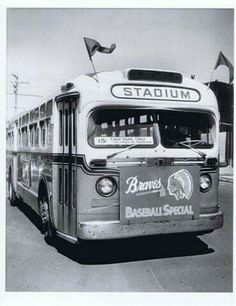 A Gm Old Look Bus Signed To Milwaukee County Stadium For A Milwaukeeves Baseball Game