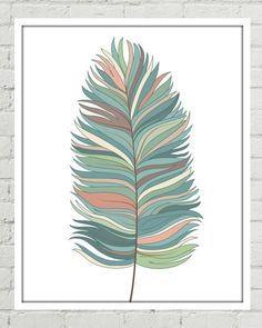 Tribal Feather Print, Tribal Feathers, Tribal Print, Tribal Printable, Feather Artwork, Feather Art Print, Feather Print, Feather Printable