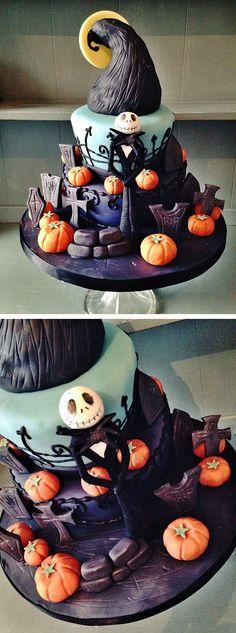 jack skellington halloween cake nightmare before christmas cake 18 hauntingly beautiful halloween cake ideas
