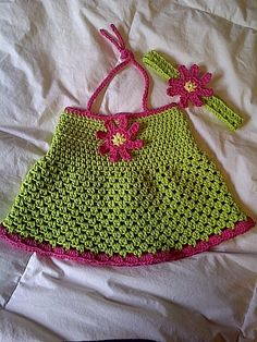 Items similar to Strawberries and Lime Halter Dress & Headband on Etsy Crochet Baby Clothes, Local Artists, Strawberries, Crochet Patterns, Lime, Knitting, Trending Outfits, Unique Jewelry, Handmade Gifts