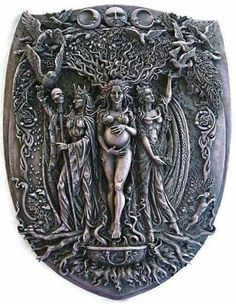 This triple goddess image was sent to me by a friend; I don't know the source. Feel free to post the source if you know it.