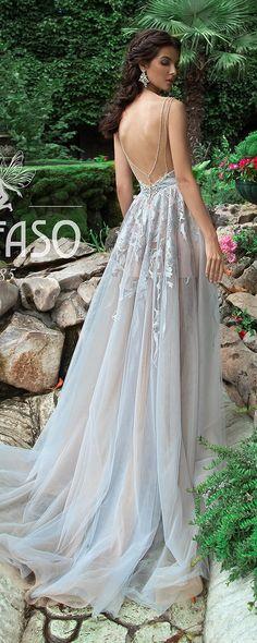 Summer Beach Wedding Dress Lace Backless Bridal Dress Sleeveless BLISS