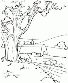 Trendy Ideas Painting Art Projects For Adults Free Printable Farm Coloring Pages, Coloring For Kids, Adult Coloring, Coloring Books, Coloring Worksheets, M Craft, Summer Nature Photography, Art Projects For Adults, Nature Drawing