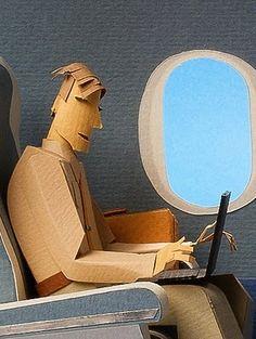 Airplane paper sculpture
