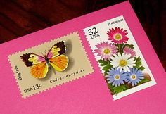 BUTTERFLY GARDEN .. Unused Vintage Postage Stamps .. Enough to mail 10 letters. $11.00, via Etsy.