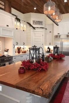 If you are looking for Modern Farmhouse Kitchen Island Decor Ideas, You come to the right place. Here are the Modern Farmhouse Kitchen Island D. Farmhouse Kitchen Island, Kitchen Island Decor, Modern Farmhouse Kitchens, Kitchen Cupboards, Kitchen Styling, New Kitchen, Home Kitchens, Farmhouse Decor, Farmhouse Design