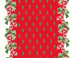 """Candy Cane Toweling - Red - 16"""" WIDE"""