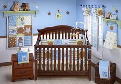 Boy+Crib+Bedding | wishes kisses beary cute set decorates a baby boy s nursery with love ...