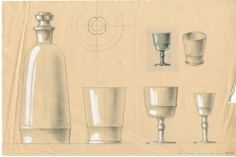 Lasiesineet, Elmar Granlund.  #elmargranlund #glass #design #glassdesign #finnishdesign