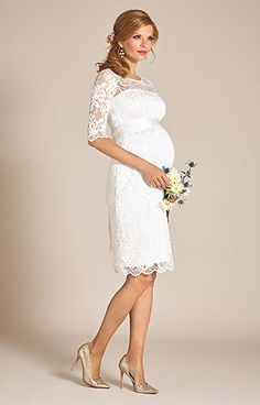 dresses short ivory Amelia Lace Maternity Wedding Dress Short (Ivory) - Maternity Wedding Dresses, Evening Wear and Party Clothes by Tiffany Rose Semi Formal Wedding, Casual Wedding, Pregnant Wedding Dress, Maternity Wedding, Nice Dresses, Short Dresses, How To Dress For A Wedding, Party Kleidung, Wedding Dressses