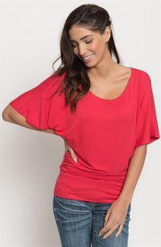 A classic staple that is made out of easy-to-wear fabric. This top speaks elegance on its own. Love a soft, jersey top that can be easily worn with any wardrobe!