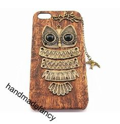 For iphone5 case wood cover handmade bird owl by Handmadefancy, $9.90