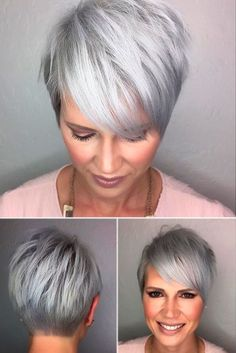 Cropped Stylish Cut with Side-Swept Bangs ★ Short haircuts for women over 50 are special due to their ability to revive the image of a woman and to make her appear years younger. 50 is not the end of the world, trust us. In this post, you can explore the cuts that will enhance your features and cut off some years. Ready? #glaminati #lifestyle #shorthaircutsforwomenover50