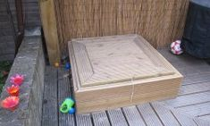 Sandpit 6 Outdoor Play Areas, Outdoor Fun, Sand Pit, Kids Play Area, Back Gardens, Kids Playing, Playground, Garden Ideas, Backyard