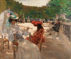 Jardin De Luxembourg by Eliseu Visconti (Italian/Brazilian 1866-1944)