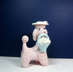 Pink Poodle Ceramic Napco 1950s Vintage by CoconutRoad on Etsy, $25.00