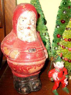 Vintage Santa and elf