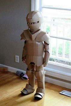 cardboard crafts kids boys DIY Shows How to Make Your Kid a Cardboard Knight in Armor