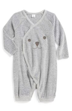 Nordstrom Baby Velour Wrap Romper (Baby) (Nordstrom Exclusive) | Nordstrom, would this make a good baby gift? http://keep.com/nordstrom-baby-velour-wrap-romper-baby-nordstrom-exclusive-no-by-corri-mcfadden/k/0QlEPfABBk/