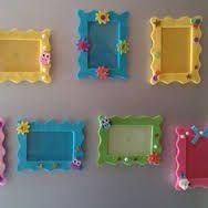 Resultado de imagen de cornici in feltro fai da te Frame Crafts, Mothers Day Crafts, Ideas Para, Diy And Crafts, Activities, Elsa, Babyshower, Home Decor, Education