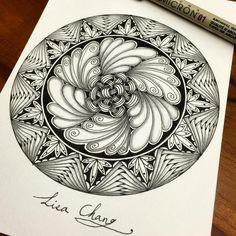 #Zendala #zentangle #Mandala#Lisa#Taipei #Taiwan#Zentangle#ZIA#doodle#painting#drawing#feather#peacock#animal#tree#rabbit#flower#artwork#zentangleart#dreamcatcher