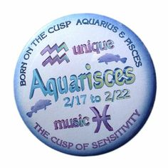 """Amazon.com: Valxart Aquarisces Bundle  $9.85 w/ free shipping Born 2/17 to 2/22 Aquarius Pisces Cusp w/ Pinback Mirror Magnet Keychain: GET 10 % OFF BY ENTERING """"valxart1"""" to the Promotion Code box at checkout on Amazon and get 10% discount with free shipping"""