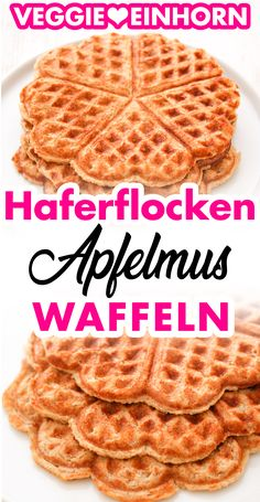 Healthy oatmeal waffles without flour and without sugar Vegan recipe without egg - Are you looking for a quick, healthy waffle recipe? These simple oatmeal waffles are free of flour, - Healthy Snacks For Kids, Healthy Desserts, Fun Desserts, Dessert Recipes, Waffle Recipes, Baby Food Recipes, Vegan Recipes, Oatmeal Waffles, Healthy Waffles