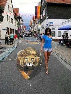 Interactive 3D street art
