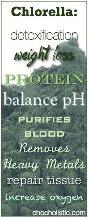 Chlorella... the worlds best heavy metal detoxyfier... among other things.