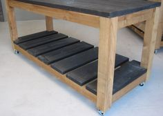 work carts I built for the front showroom portion of the studio