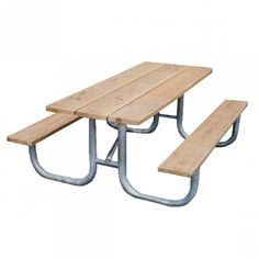 Best Picnic Table Images On Pinterest Backyard Furniture Garden - Galvanized picnic table frame
