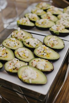 Photo collection by Engage! Breakers Palm Beach, The Breakers, Wedding Blog, Our Wedding, Destination Wedding, Crab Stuffed Avocado, Wedding Appetizers, Industrial Wedding, Cucumber