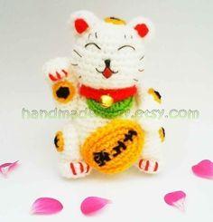 Maneki Neko Lucky Cat Amigurumi PDF Crochet by handmadekitty, $4.99