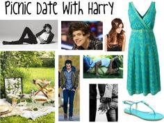 """""""Picnic Date With Harry Styles"""" by onedirectiionlover ❤ liked on Polyvore"""