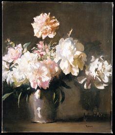 Still Life: Vase of Peonies by Edmund Charles Tarbell