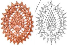 crochet - motif with chart - would make a sweet coaster