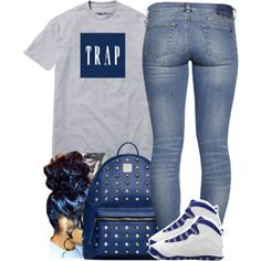 A fashion look from November 2014 featuring MCM backpacks. Browse and shop related looks.
