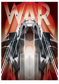 WAR MACHINE- IRONMAN 2 VECTOR TRIBUTE © Orlando Arocena, via Behance