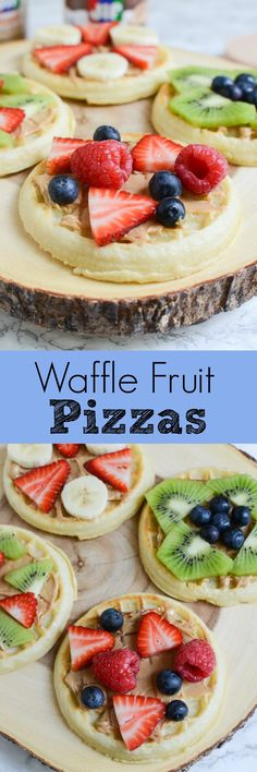 Waffle Fruit Pizzas - perfect for the days when you have to grab breakfast as you run out the door!
