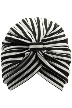 A vintage-inspired head wrap features two-tone striped lightweight fabric for a dash of old-school glamour. Turban has a 29.5 inch maximum circumference. Measures 7 inches top to bottom, when flat. Me