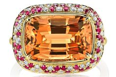 Imperial Topaz, Ruby, and Diamond Ring - Omi Privé - Product Search - JCK Marketplace