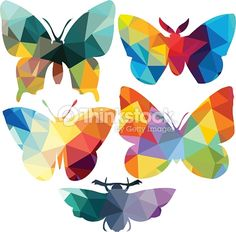 geometric butterfly silhouette - Google Search