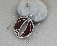 Stained glass pendant glass jewelry novelty от OrioleStudio