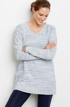 Pure Jill heathered cotton tunic