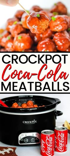 A savory and delicious crockpot Coca-Cola meatballs recipe, perfect for game day. A savory and delicious crockpot Coca-Cola meatballs recipe, perfect for game day. Game Day Appetizers, Meat Appetizers, Appetizer Recipes, Coca Cola, Potluck Recipes, Healthy Dinner Recipes, Cake Recipes, Slow Cooker Recipes, Crockpot Recipes