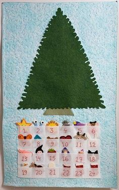 advent  ...  this  is  what  i  can  do  to  use  the  felt  xmas  things  i  made  for  an  advent  calendar  no  longer  in  use  ...  yah: